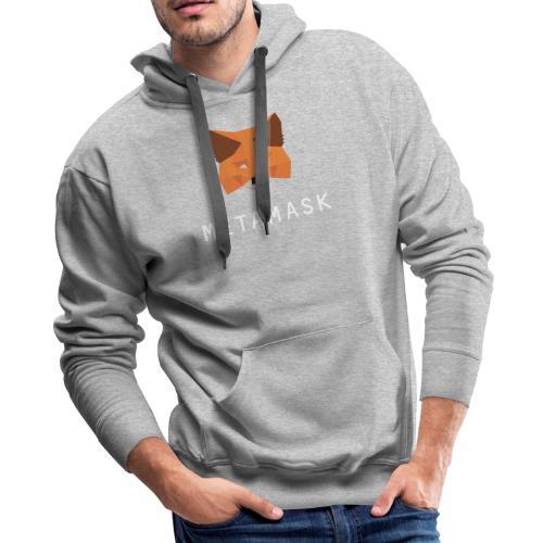 MetaMask Fox White Wordmark - Men's Premium Hoodie