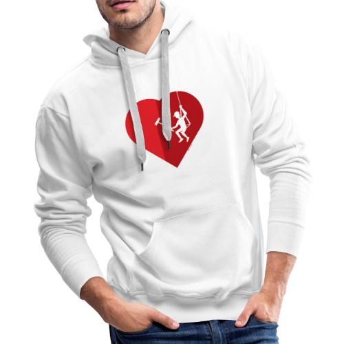 Heart cleaning by a professional window cleaner - Men's Premium Hoodie