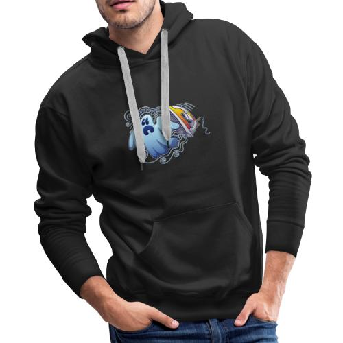 Heated iron, the worst nightmare for an evil ghost - Men's Premium Hoodie