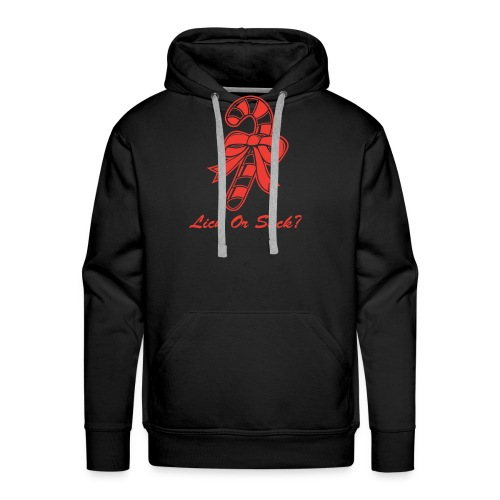 Lick Or Suck Candy Cane - Men's Premium Hoodie
