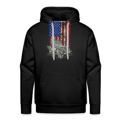 American Flag Wrangler - Men's Premium Hoodie