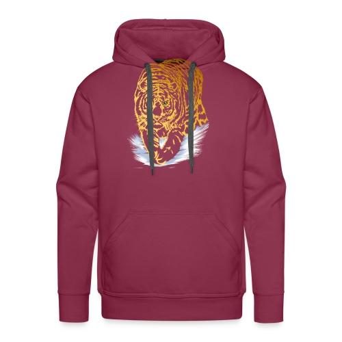 Golden Snow Tiger - Men's Premium Hoodie
