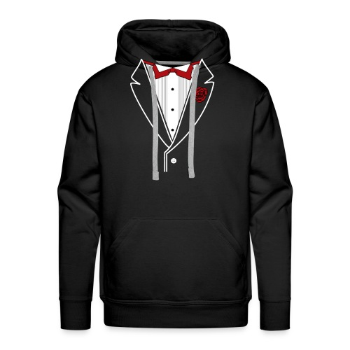 Tuxedo with Red bow tie - Men's Premium Hoodie