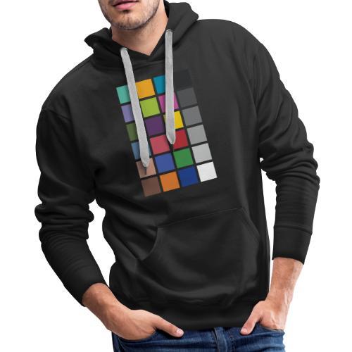 Photographer's Color Checker tee - Men's Premium Hoodie