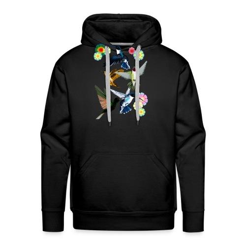 For The Love Of Hummingbirds - Men's Premium Hoodie