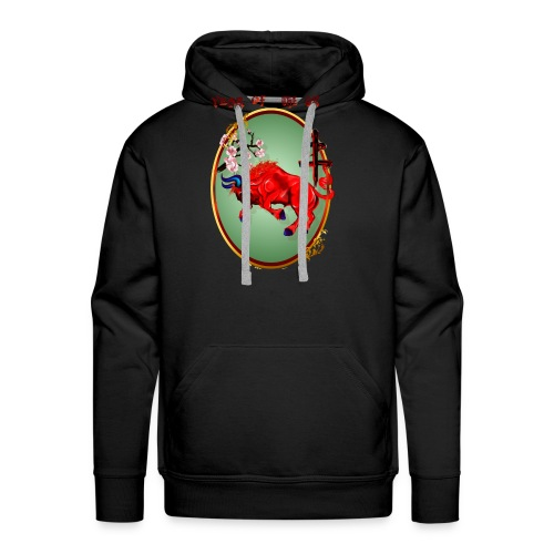 The Red Ox Oval - Men's Premium Hoodie