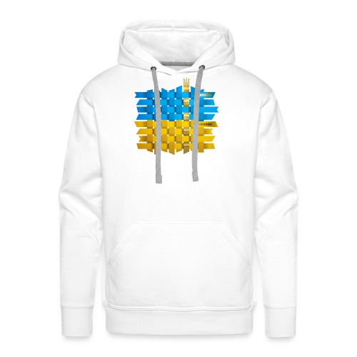 Weave Ukrainian flag - Men's Premium Hoodie