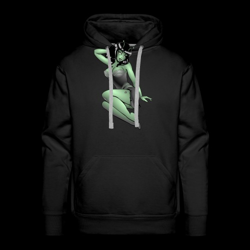 Pinup Girl Alien Gifts & Shirts Retro Pinup Alien - Men's Premium Hoodie
