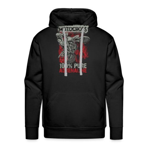 Motocross Pure Adrenaline - Men's Premium Hoodie