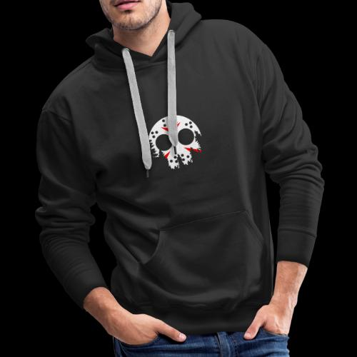 Haunted Halloween Hockey Mask - Men's Premium Hoodie
