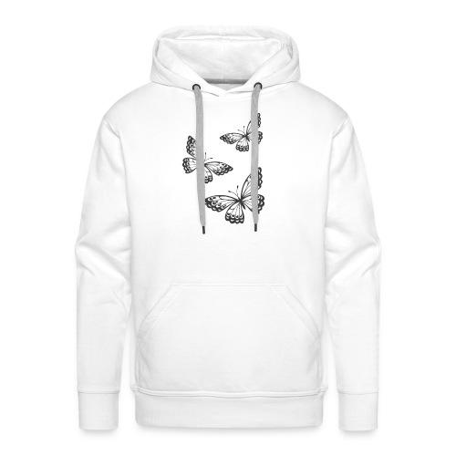 be_you_tiful_grey_white_text - Men's Premium Hoodie