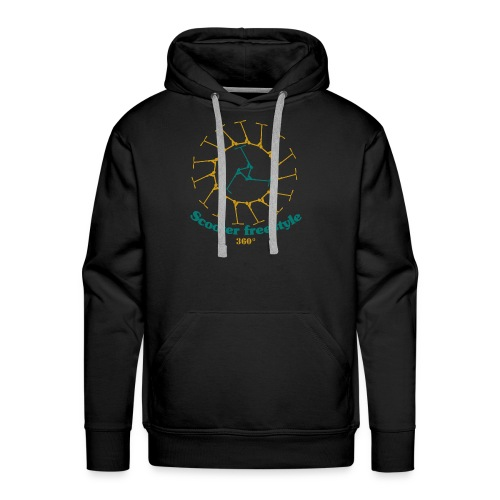 Circle of freestyle scooter - Men's Premium Hoodie