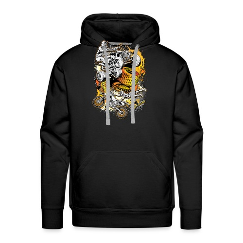 FMX Freestyle Abstract - Men's Premium Hoodie