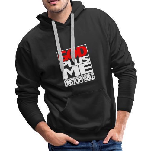 GOD PLUS ME WHT_T - Men's Premium Hoodie