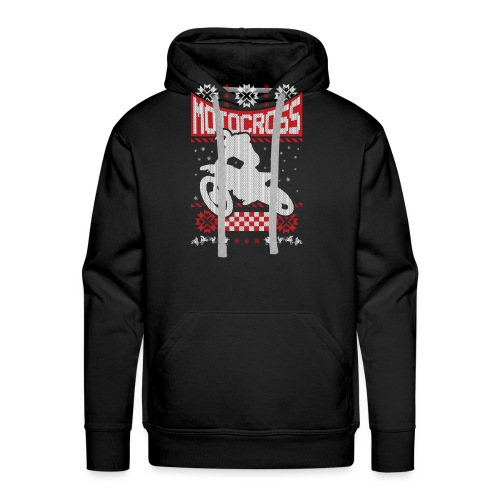 Ugly Christmas Motocross - Men's Premium Hoodie