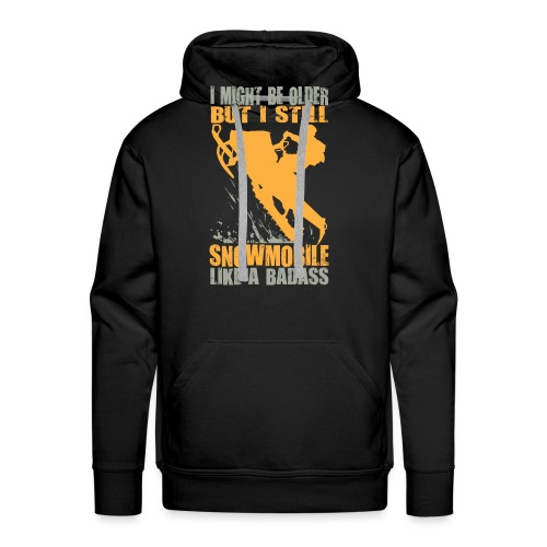 Snowmobile Old Badass - Men's Premium Hoodie