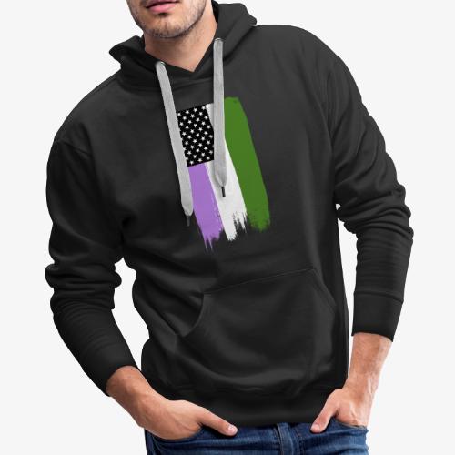 Genderqueer Pride Stars and Stripes - Men's Premium Hoodie