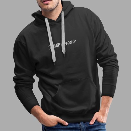 IHopegood White Text on Black Collection - Men's Premium Hoodie
