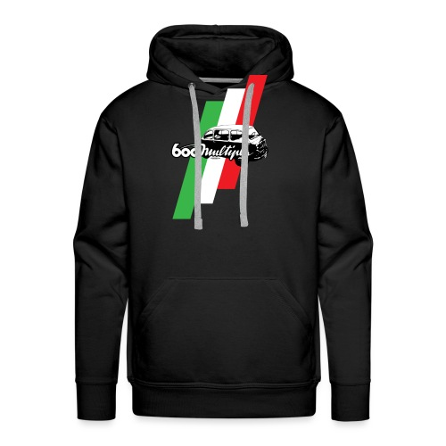 Fiat 600 Multipla script and illustration - - Men's Premium Hoodie