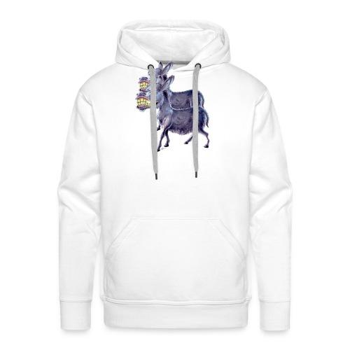 Funny Keep Smiling Donkey - Men's Premium Hoodie