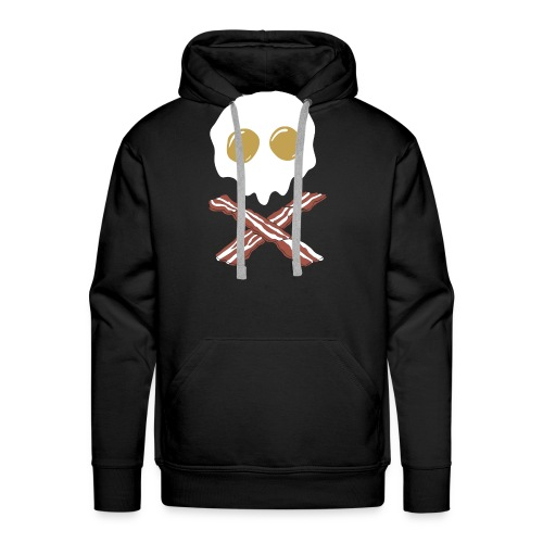 Breakfast Skull - Men's Premium Hoodie
