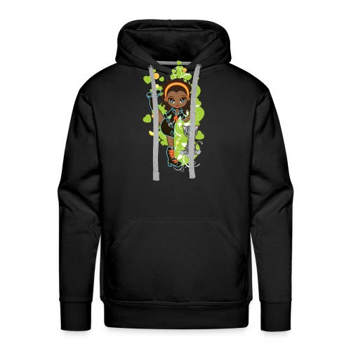 Aisha the African American Chibi Girl - Men's Premium Hoodie