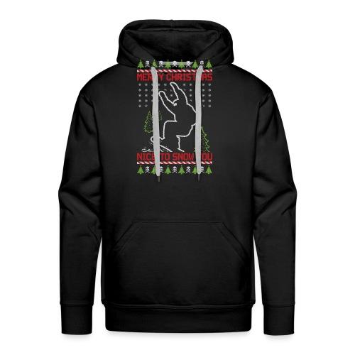 Ugly Christmas Snowboard - Men's Premium Hoodie
