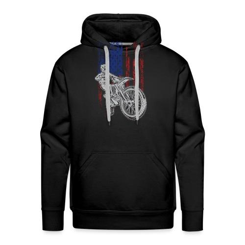 Motocross USA Race Rider - Men's Premium Hoodie