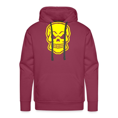 Skull vector yellow - Men's Premium Hoodie