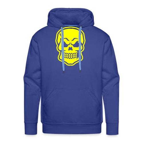 Skull vector yellow - Men's Premium Hoodie