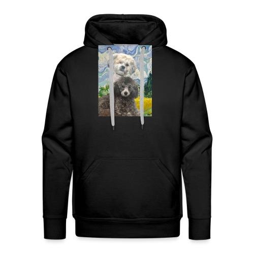 Morty and Wonton - Dogs of Modern Art - Men's Premium Hoodie