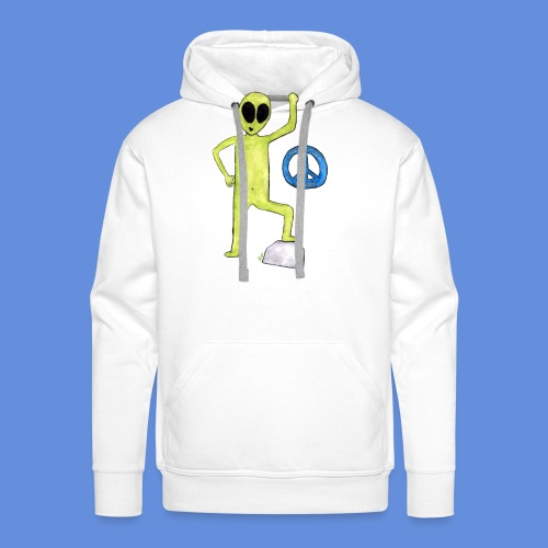 Peace and love Alien - Men's Premium Hoodie