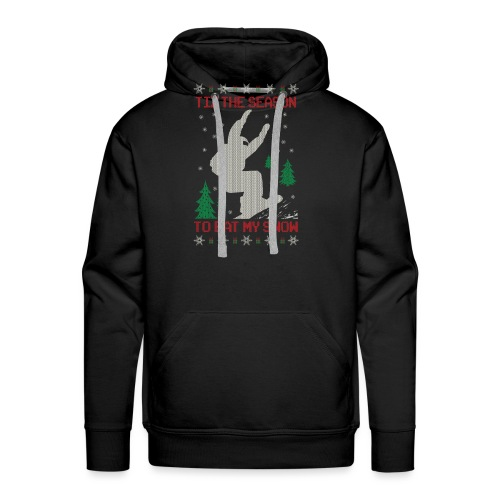 Snowboarder Christmas - Men's Premium Hoodie