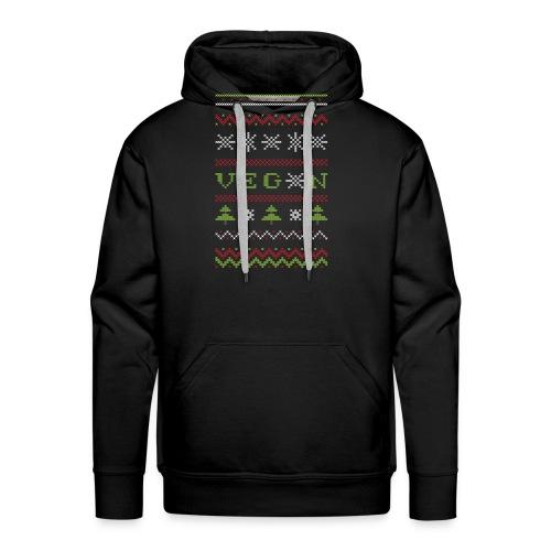 Veg*n Ugly Sweater Women's Wideneck Sweatshirt - Men's Premium Hoodie