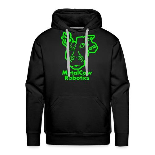 MetalCowLogo GreenOutline - Men's Premium Hoodie