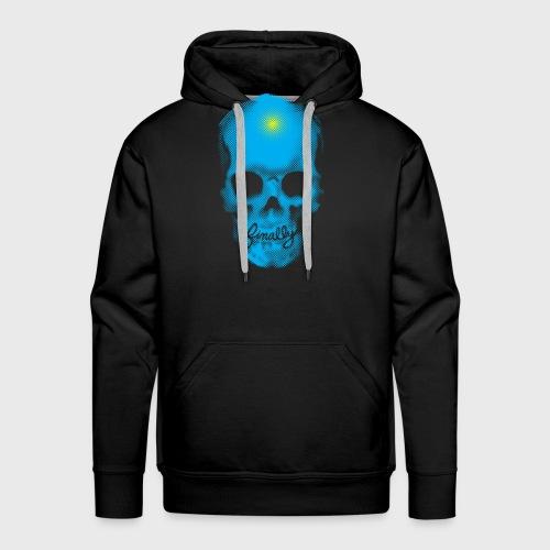 Finally Skull Cyan - Men's Premium Hoodie