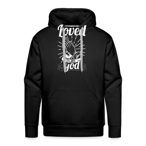 Loved By God - Alt. Design (White Letters) - Men's Premium Hoodie