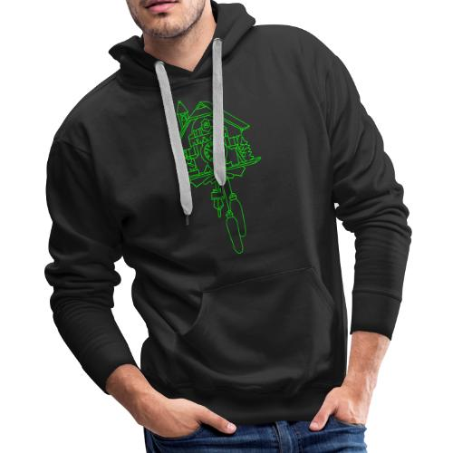 Kuckuck clock from the Black Forest - Men's Premium Hoodie