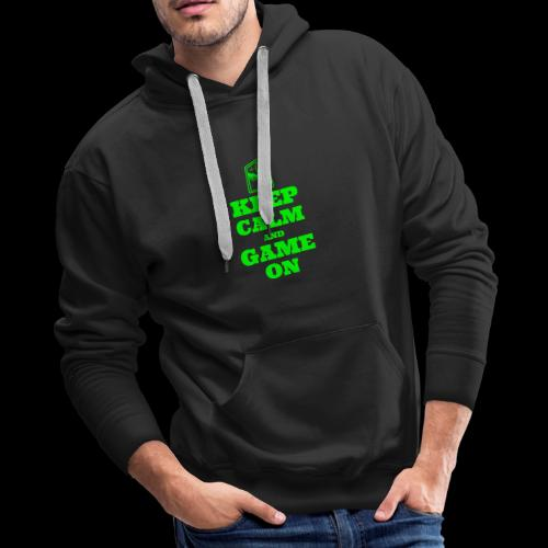 Keep Calm and Game On | Retro Gamer Arcade - Men's Premium Hoodie