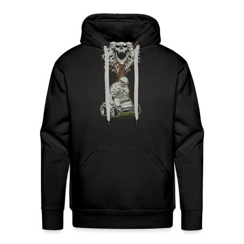 Lawnmower Skull Tree - Men's Premium Hoodie