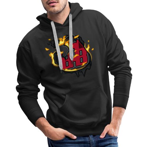 BAB Logo on FIRE! - Men's Premium Hoodie