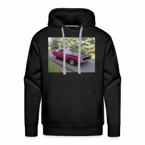 Plymouth 'Cuda 440+6 Pak 4-Speed - Men's Premium Hoodie