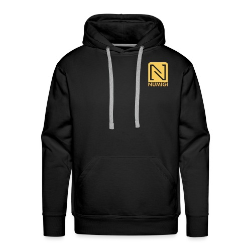 Molleton à capuche noir, logo jaune - Men's Premium Hoodie