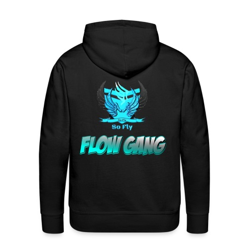 Flow Gang With So Fly Official Logo - Men's Premium Hoodie