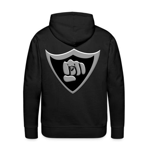 Silver and black logo - Men's Premium Hoodie