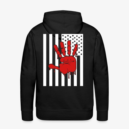 blood on our hand - Men's Premium Hoodie