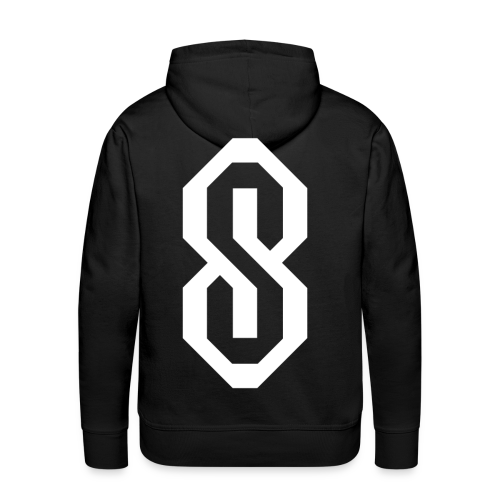 White S Logo - Men's Premium Hoodie