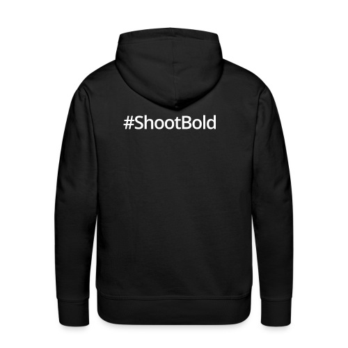 #ShootBold: White Font - Men's Premium Hoodie