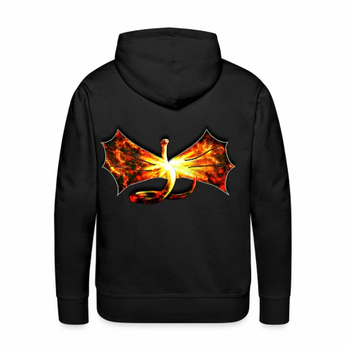 Flaming winged Serpent - Men's Premium Hoodie