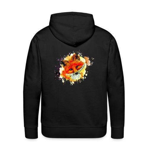 fox face - Men's Premium Hoodie